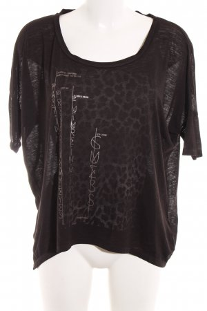 Guess T-Shirt schwarz Leomuster Casual-Look