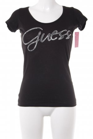 Guess T-Shirt schwarz-silberfarben Casual-Look