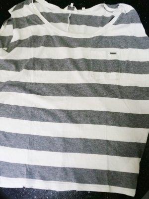 Guess T-Shirt Shirt 38 M grau weiß wie neu