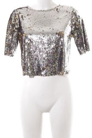 Guess Camiseta color plata-color oro estilo fiesta
