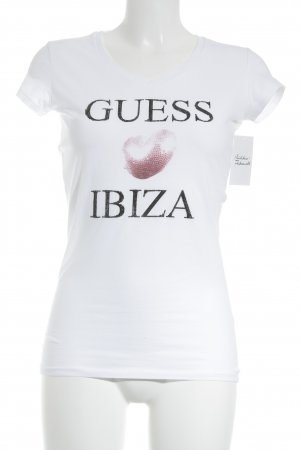 Guess T-Shirt weiß Casual-Look