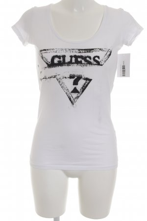 Guess Camiseta blanco look casual