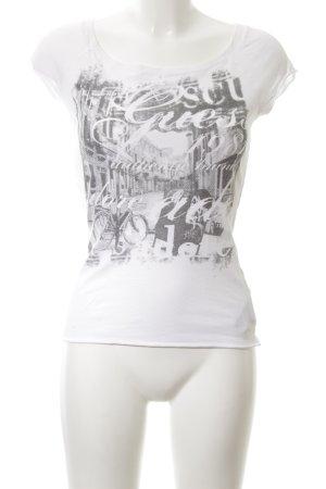 Guess T-Shirt weiß-hellgrau Motivdruck Casual-Look