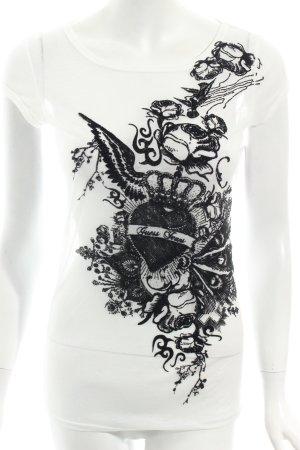 Guess T-Shirt weiß-schwarz Casual-Look