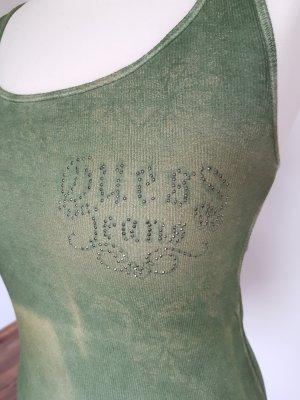 Guess Tank-Top Größe S grün khaki meliert wie neu