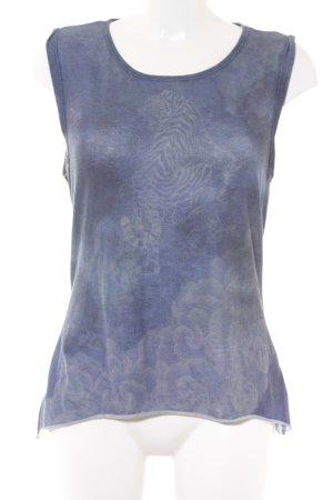 Guess Tanktop dunkelblau-stahlblau abstraktes Muster Casual-Look