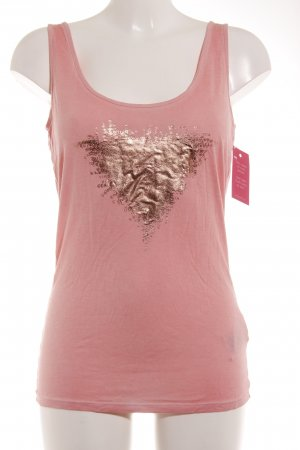 Guess Tank Top rose-gold-coloured-pink placed print casual look