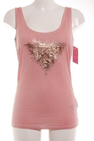 Guess Tanktop roségoldfarben-rosa platzierter Druck Casual-Look