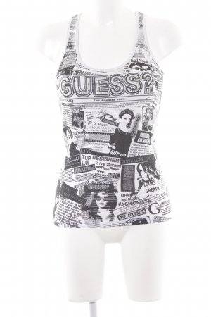 Guess Tank Top black-white allover print casual look