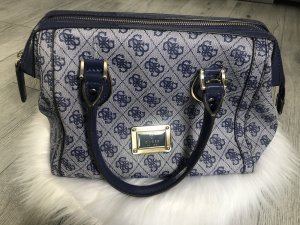 Guess Bowlingtas blauw-wit
