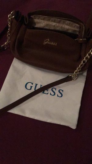 Guess Crossbody bag brown leather
