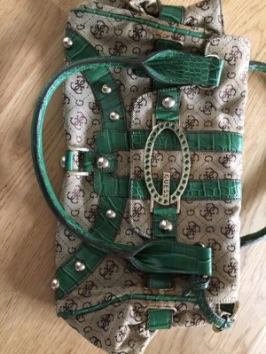 Guess Carry Bag forest green mixture fibre