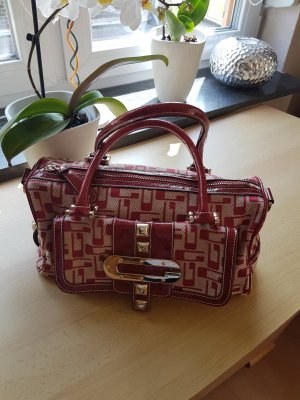 Guess Handbag dark red-brick red leather