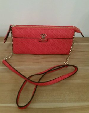 Guess Crossbody bag red imitation leather