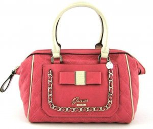 GUESS Tasche Dolled Up Frame Satchel mit Schleife VG484006 passion koralle NEU