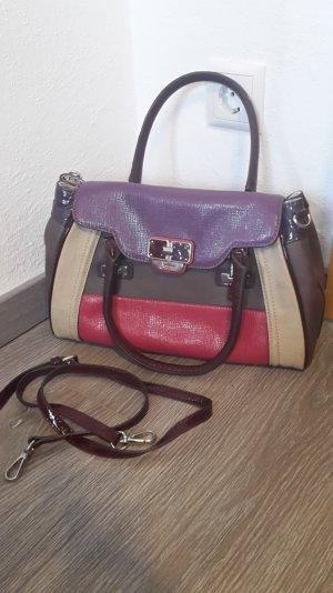Guess-Tasche, echtes Leder, incl. Schulterriemen und Staubbeutel