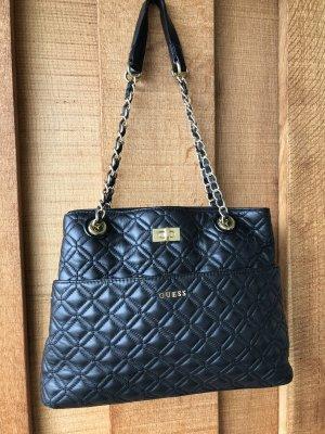 Guess Shoulder Bag black leather