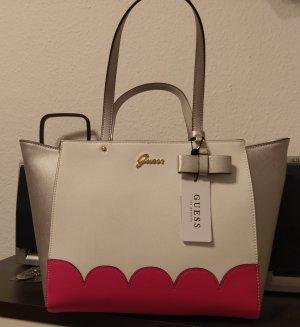 Guess Tasche Eilish tote Handtasche neu weiß/silber/pink