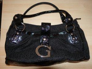 Guess Tasche / elegant / schwarz & Silber