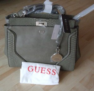 Guess Satchel olive green imitation leather