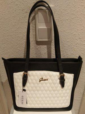 Guess tasche handtasche neu schwarz weiß