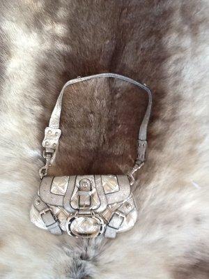 GUESS Tasche in silberfarbenem Leder