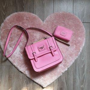 Guess Bolsa de hombro rosa-rosa neón
