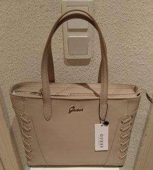 Guess Tasche neu nude/beige Handtasche Leder