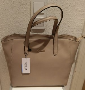 Guess Tasche neu nude leder handtasche beige