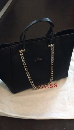 Guess Carry Bag black-gold-colored imitation leather