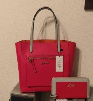 Guess Shopper gris-rouge