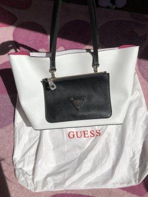 Guess Tasche schwarz/weiß