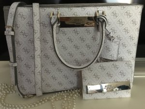 Guess Carry Bag white-light grey