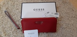Guess Cartera color oro-rojo oscuro