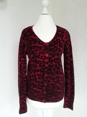 Guess tolles Cardigan Gr.S/36 schwarz/rot top
