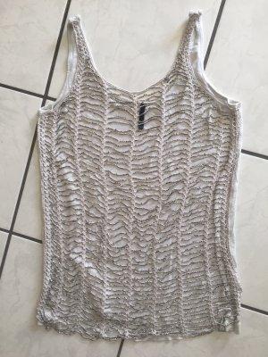 Guess Top línea A color plata-gris