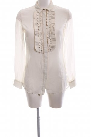Guess Transparent Blouse oatmeal material mix look