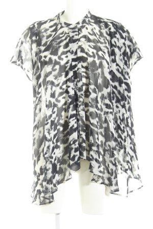 Guess Blouse transparente blanc-noir motif abstrait style extravagant