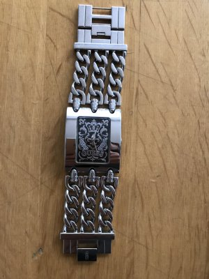 Guess Watch With Metal Strap silver-colored-black stainless steel