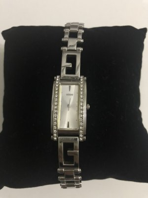 Guess Watch With Metal Strap silver-colored-white
