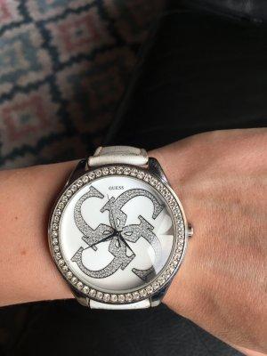 Guess Horloge met lederen riempje veelkleurig Metaal
