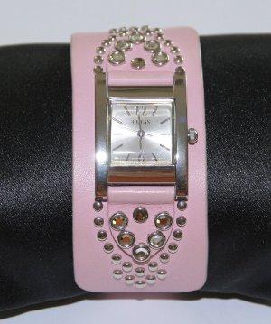 GUESS Uhr Armbanduhr mit Swarovski Steinen und Nieten
