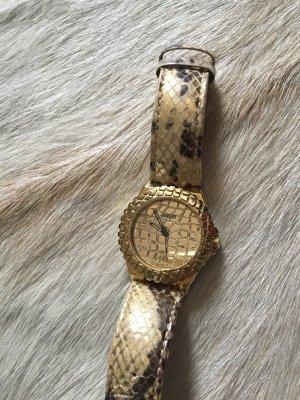 Guess uhr armbanduhr schlange gold
