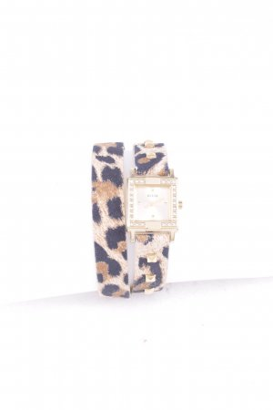 Guess Watch With Leather Strap leopard pattern glittery