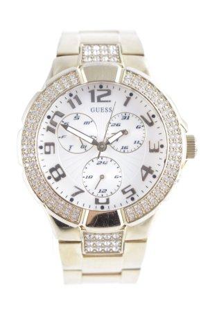Guess Reloj con pulsera metálica color oro elegante