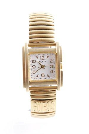 Guess Uhr mit Metallband goldfarben-weiß Elegant