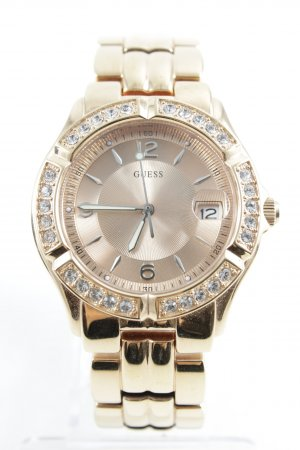 Guess Uhr mit Metallband roségoldfarben Casual-Look