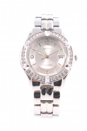 Guess Watch With Metal Strap silver-colored business style