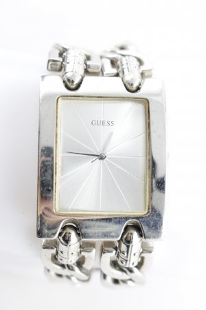 Guess Horloge met metalen riempje zilver elegant