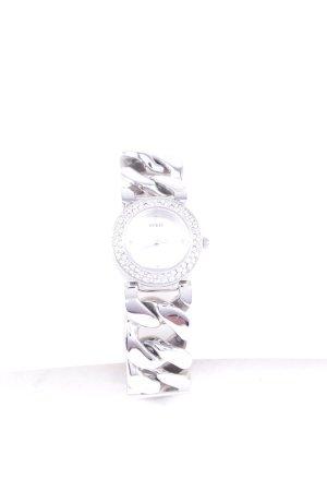 Guess Uhr mit Metallband silberfarben Glanz-Optik